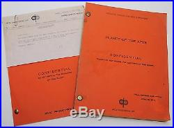 PLANET OF THE APES 1967 Original Movie Script & also the 5 page TEST SEQUENCE