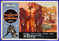 PLANET OF THE APES 1968 18x27 Rare style LB poster linen-backed filmartgallery