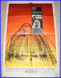 PLANET OF THE APES 1968, 1SH ORIG Poster, C. HESTON