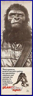 PLANET OF THE APES 1968 20x60 Door panel unfolded Exc condition FilmArtGallery