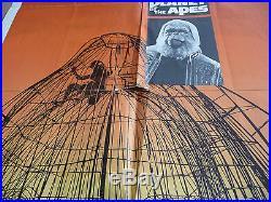 PLANET OF THE APES 1968 Genuine 1-sheet poster Charlton Heston Rod Serling 68/50