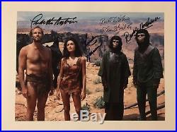 PLANET OF THE APES 1968 SIGNED PHOTO AUTHENTIC Heston McDowall Hunter Harrison