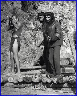 PLANET OF THE APES (1968) Set of 5 vntg orig dbl wt semi-glossy French stills FN