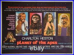 PLANET OF THE APES 1968 UK QUAD ORIGINAL POSTER. 30 x 40 inches