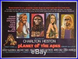 PLANET OF THE APES -1968 UK QUAD ORIGINAL POSTER. 30 x 40 inches