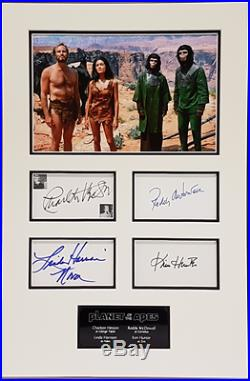 PLANET OF THE APES 1968 personally MULTI signed HESTON, HUNTER, McDOWALL
