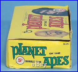 PLANET OF THE APES 1969 Topps FULL 24 WAX PACK GUM CARD BOX Roddy McDowall