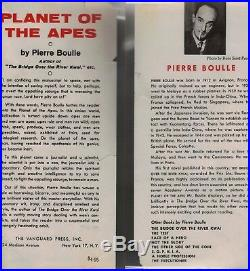 PLANET OF THE APES-1ST/1ST-1963-BY PIERRE BOULLE-NICE RARE BOOK-WithDUST JACKET
