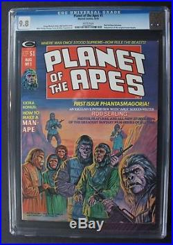 PLANET OF THE APES #1 Marvel B&W Magazine 1974 Ploog Larkin Movie CGC NM/MT 9.8