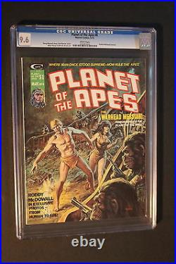 PLANET OF THE APES #8 Marvel B&W Magazine 1975 McDowall PLOOG Alcala CGC NM+ 9.6