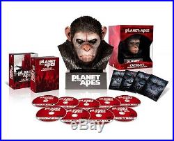 PLANET OF THE APES Blu-ray Collection Warrior with Caesar head JAPAN NEW F/S