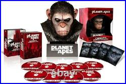 PLANET OF THE APES Blu-ray Collection Warrior with Caesar head from Japan RARE