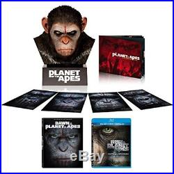PLANET OF THE APES / CAESAR'S WARRIOR COLLECTION / CEASAR'S HEAD / BLU-RAY DISCs