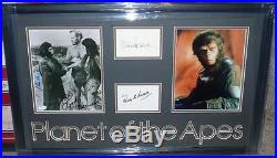 Planet Of The Apes Cast Signed Charlton Heston, Linda Harrison, Roddy Mcdowall