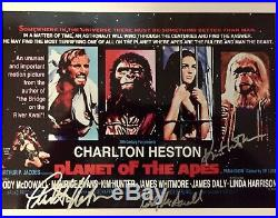 PLANET OF THE APES C Heston K Hunter R McDowall Autographed 8x10 Poster