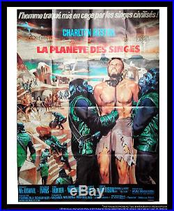 PLANET OF THE APES Charlton Heston 4x6 ft Vintage Movie Poster Original 1967