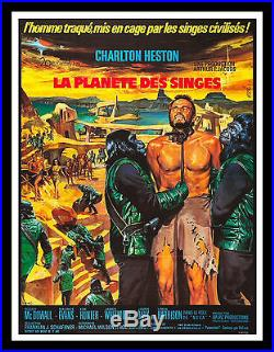 PLANET OF THE APES CineMasterpieces FRENCH ORIGINAL MOVIE POSTER 1968