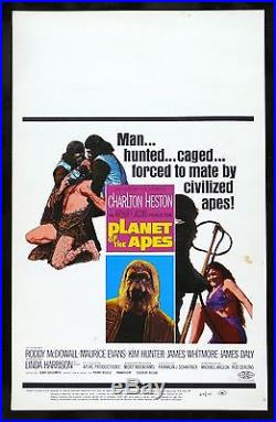 PLANET OF THE APES CineMasterpieces WINDOW CARD ORIGINAL MOVIE POSTER 1968