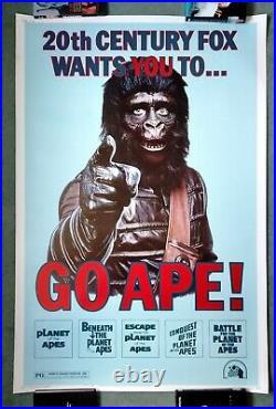 PLANET OF THE APES GO APE (1974) original US 40 x 60 inch movie poster vRARE