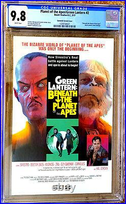 PLANET OF THE APES / GREEN LANTERN #2 in NM / MINT 9.8 CGC comic variant cover