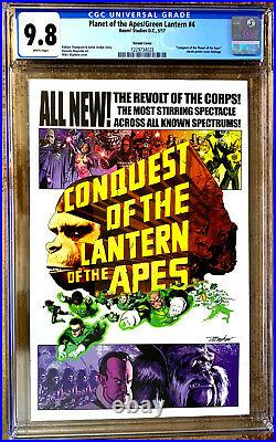 PLANET OF THE APES / GREEN LANTERN #4 in NM / MINT 9.8 CGC comic variant cover