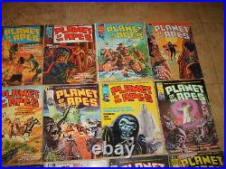 PLANET OF THE APES Marvel Curtis 16 Comic Magazine Lot 1974 Set POTA