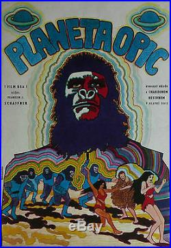 PLANET OF THE APES Mega Rare Original Czech Poster CHARLTON HESTON