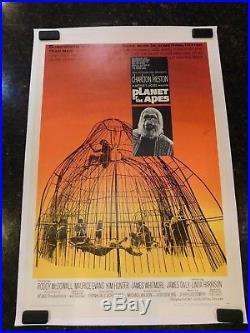 PLANET OF THE APES Original 1968 Movie Poster, C8.5 Very Fine to Near Mint