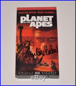 PLANET of the APES Signed VHS MOVIE Autographed CHARLTON HESTON 30th Ann