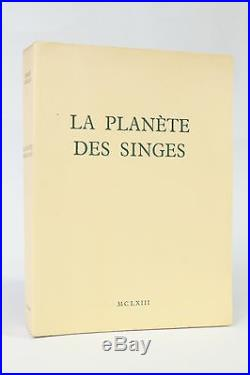 P BOULLE La Planete des singes Planet of the Apes FIRST EDITION NUMBERED 1963