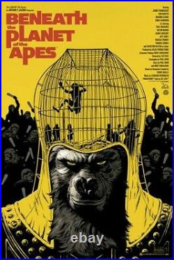 Pair Mondo BENEATH THE PLANET OF THE APES Original & Variant Posters Paolo