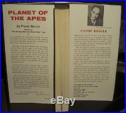 Pierre Boulle The Planet of the Apes 1963 HC DJ 1st edition first printing