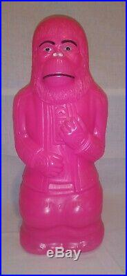 Pink 1967 Planet Of The Apes Dr. Zaius Blow Mold Bank 17 Vintage HTF RARE Retro