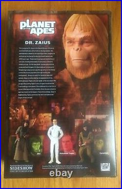 Planet Of Apes Dr Zaius Forbidden Zone Sideshow Exclusive 1/6 Figure NRFB MISB