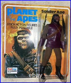 Planet Of The Apes 1967 Palitoy SOLDIER APE Action Figure on Original Card UK