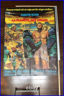 Planet Of The Apes (1968) 47 X 63 French Movie Poster