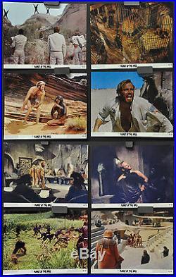 Planet Of The Apes 1968 Orig Lobby Card Set Of 8 8x10 Charlton Heston Kim Hunter
