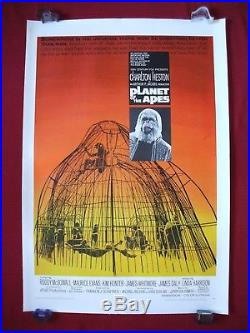 Planet Of The Apes 1968 Original Movie Poster 1sh Linen Backed Charlton Heston