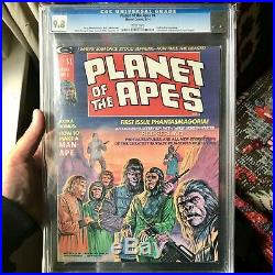 Planet Of The Apes #1 Marvel CGC 9.8 1974 Curtis Magazine White Pages classic