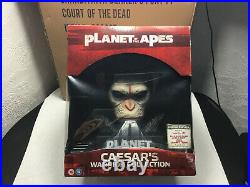Planet Of The Apes Caesar's Warrior Collection 8 Blu Ray Box Set /w Statue Bust