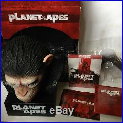 Planet Of The Apes Caesars Warrior Collection Blu-ray Box-set Bust Head 8 Films