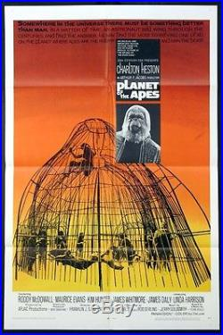 Planet Of The Apes Charlton Heston Science Fiction 1968 1-sheet Unused