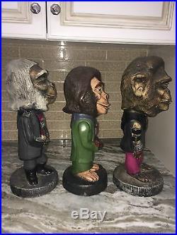Planet Of The Apes Cornelius, Zira, And Dr Zaius Tuscany-esco Style Statues Rare
