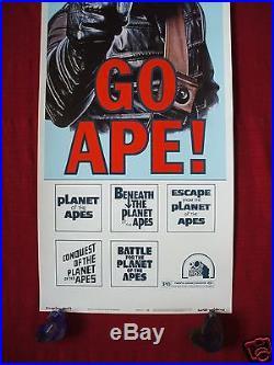 Planet Of The Apes Go Ape! 1974 Original Movie Poster Insert Rare & Authentic