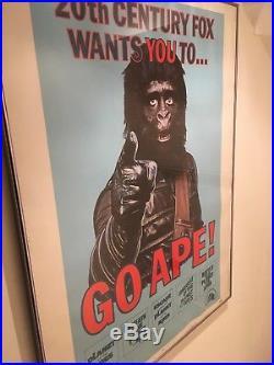Planet Of The Apes. Go Ape! Original 1974 Promotional Movie Poster