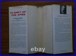 Planet Of The Apes Hardcover Pierre Boulle 1963 With Dust Jacket VG
