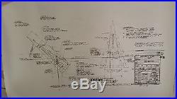 Planet Of The Apes Movie Set & Spaceship Blueprints Poster Print 38x25 Set/4