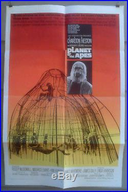 Planet Of The Apes Orig 1968 Near Mint One-sheet Film Poster
