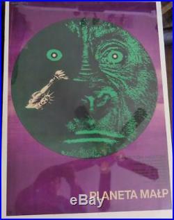 Planet Of The Apes Planeta Malp Polish Movie Poster by Eryk Lipinski ORIGINAL A1