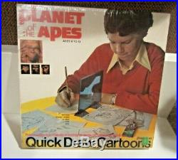 Planet Of The Apes Quick Draw Cartoons #3380 Pressman 1970's Mint In Box -sealed